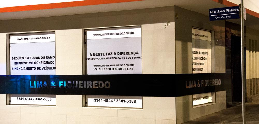 Fachada da empresa Lima & Figueiredo em Caxambu, MG